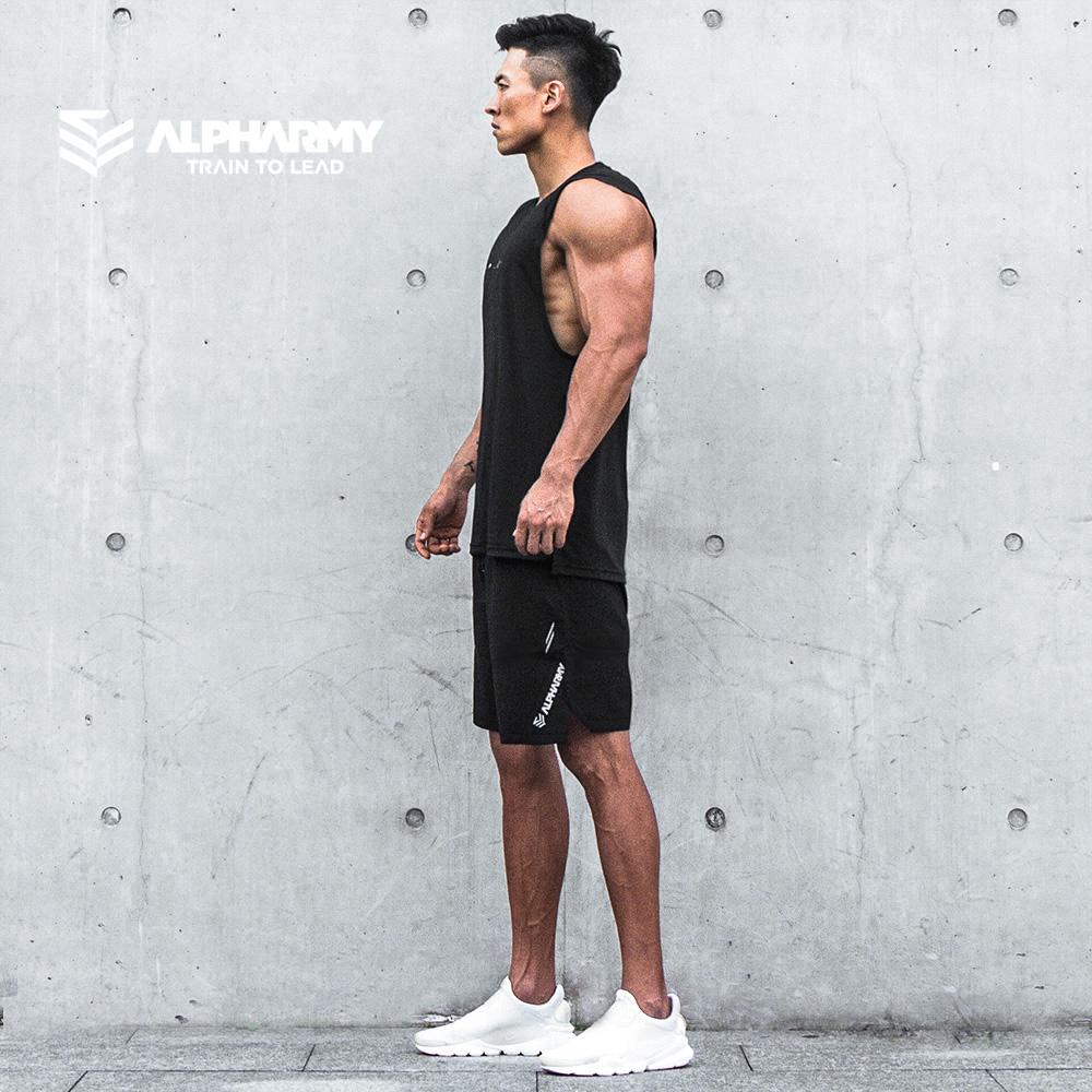 Alpharmy健身速干背心男宽松肌肉型训练坎肩运动上衣无袖T恤轻薄