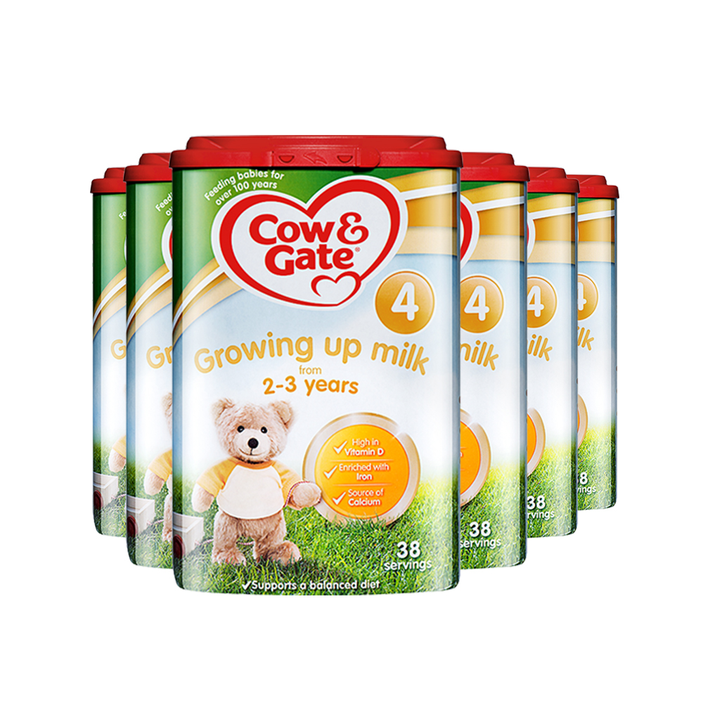 【直营】英国牛栏Cow&Gate进口婴幼儿奶粉4段(2-3岁)800g*6罐