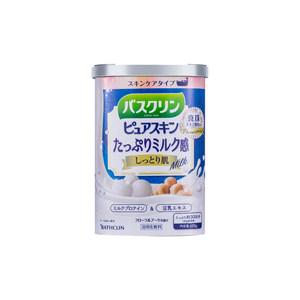 日本巴斯克林进口超浓蜂王浆牛乳蜂蜜乳木瓜浴盐亮白全身600克/罐