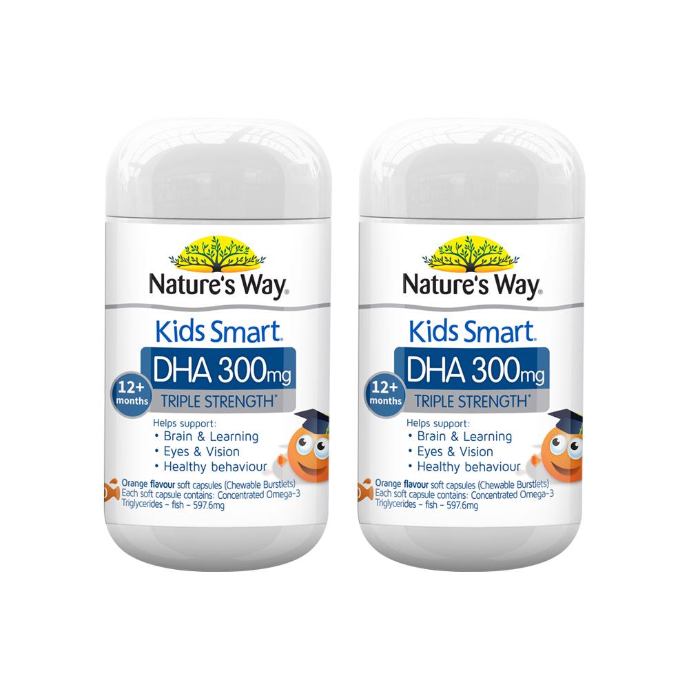 【直营】澳洲DHA Nature's Way佳思敏澳洲三倍DHA儿童补脑两瓶