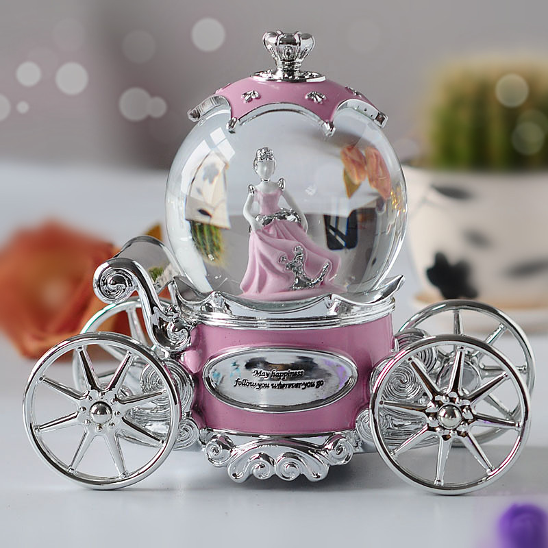定制 DIY 水晶球八音盒音乐盒旋转生日礼物女生创意情人节礼品女友