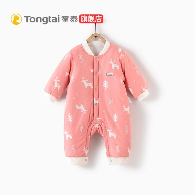 童泰秋冬新款婴儿衣服婴儿连体衣1-18月男女宝宝夹棉连身衣哈衣