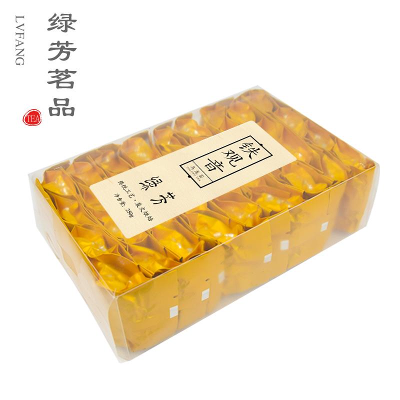 绿芳茶叶 浓香型铁观音茶叶炭焙乌龙茶秋茶礼盒装新茶250g*2盒