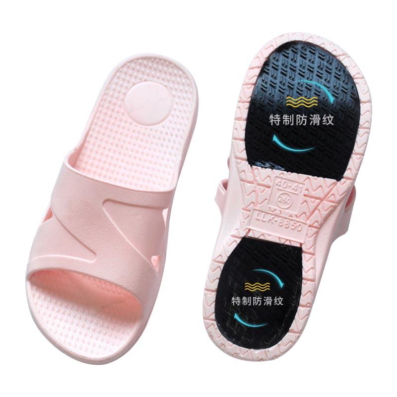 室内拖鞋居家冬季孕妇浴室洗澡防滑塑料软底男女士凉拖鞋家用厚底