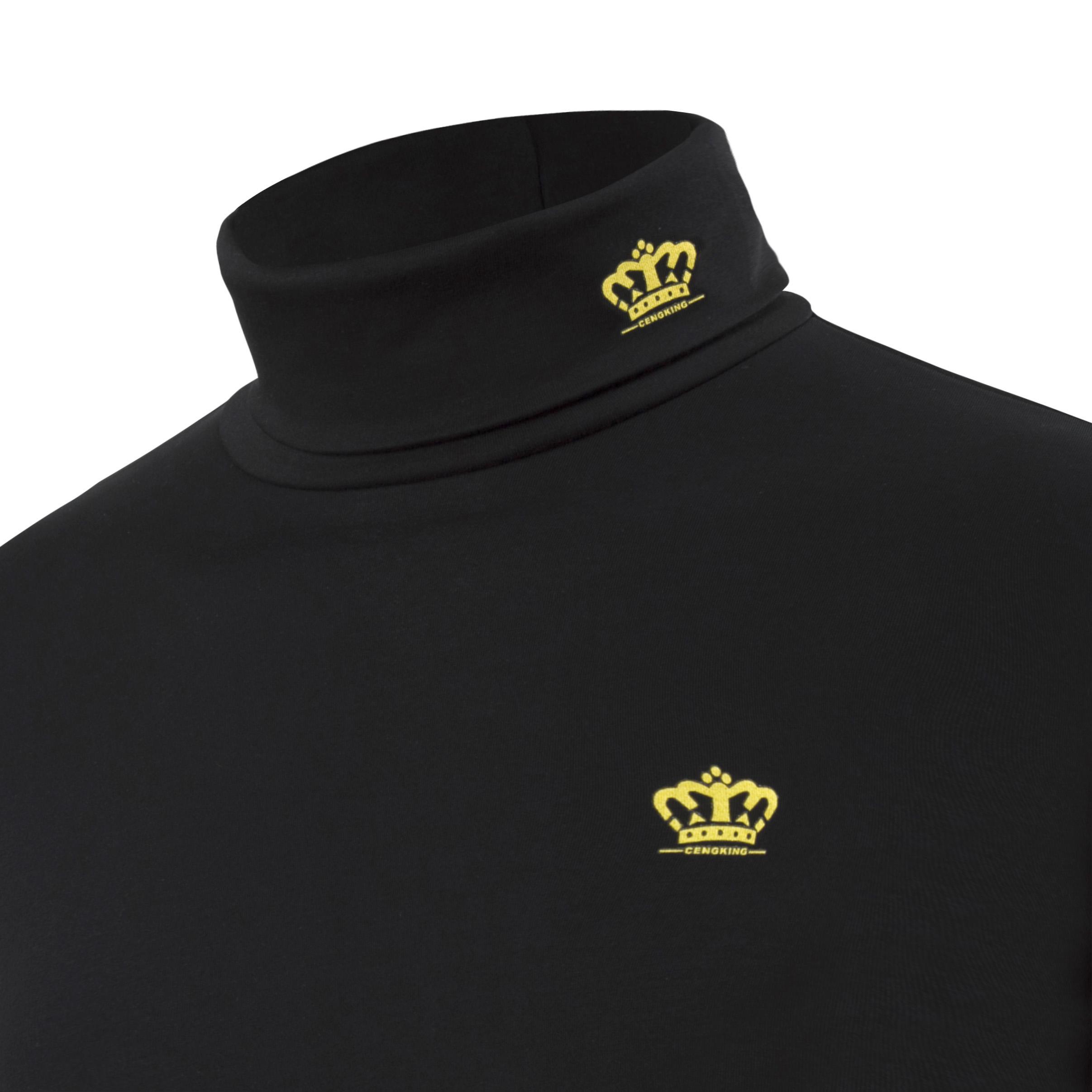男士高领打底衫男装长袖加绒加厚保暖内衣t恤纯棉修身韩版冬季潮