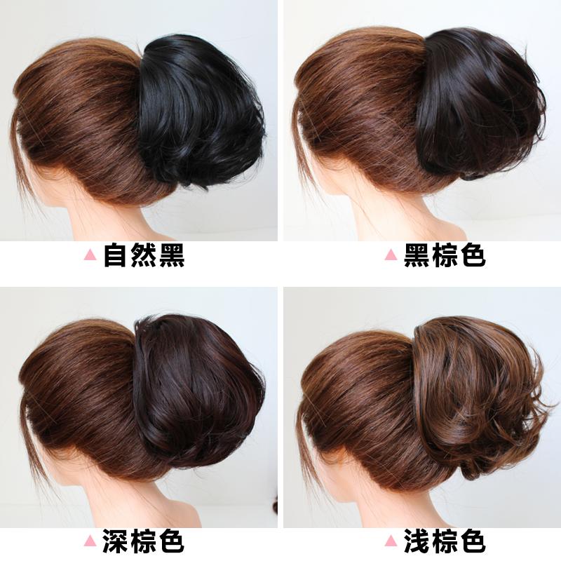 赫本假发包新娘盘发器造型丸子头饰网红发饰女仿真发花苞头假发圈