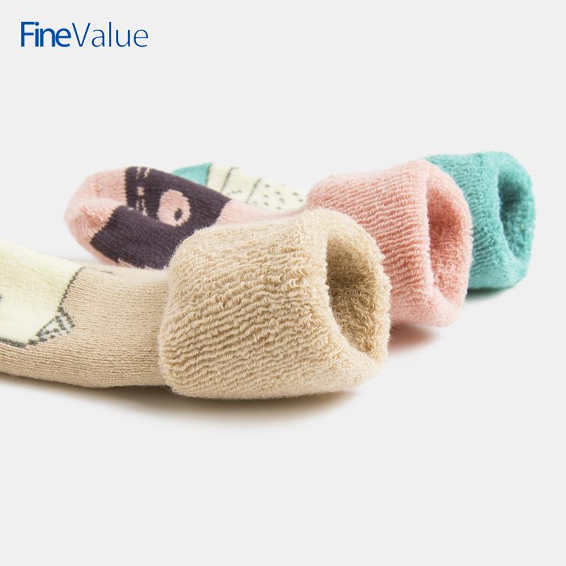 婴儿袜子秋冬加厚棉袜毛巾袜新生儿宝宝袜0-6个月儿童毛圈袜
