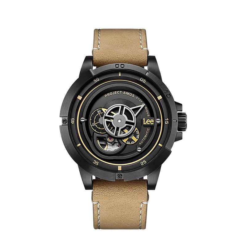 【12期免息】lee潮牌男士腕表3D镂空背透全自动机械表个性手表M55