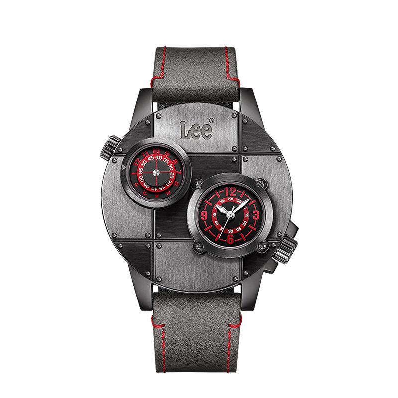 lee潮牌男士腕表进口机芯双时区手表新概念立体大表盘时尚男表M59