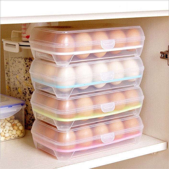 冰箱多格鸡蛋盒食物保鲜盒鸡蛋托厨房透明塑料盒子放鸡蛋收纳盒