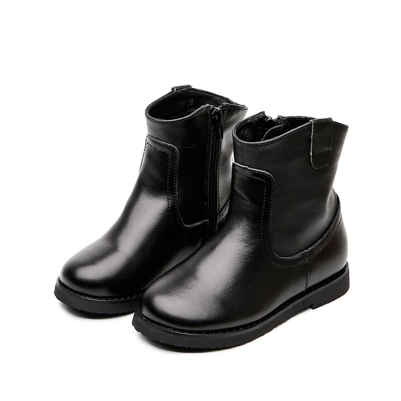 女童靴子2018秋冬季新款皮靴真皮短靴儿童马丁靴女棉靴英伦风宝宝