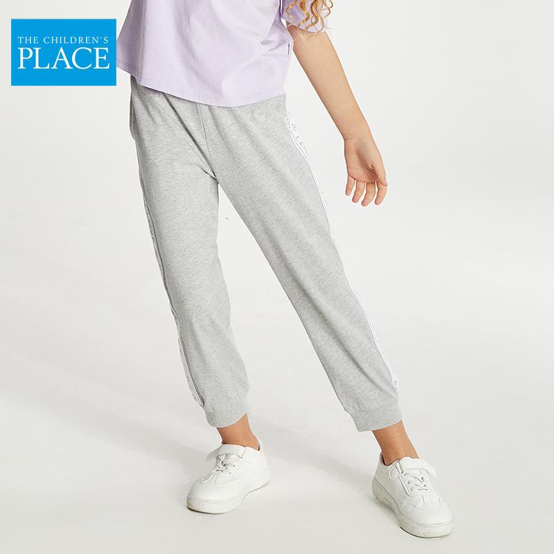 北美童装TOP品牌,The Children's Place 绮童堡 21新款大童侧缝织带薄针织长裤