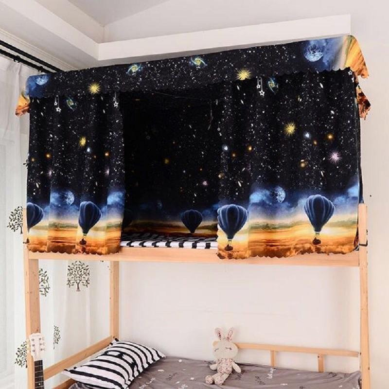 (两片送学习灯)遮光布单人床围帘子上铺下铺床帘大学生窗帘寝室
