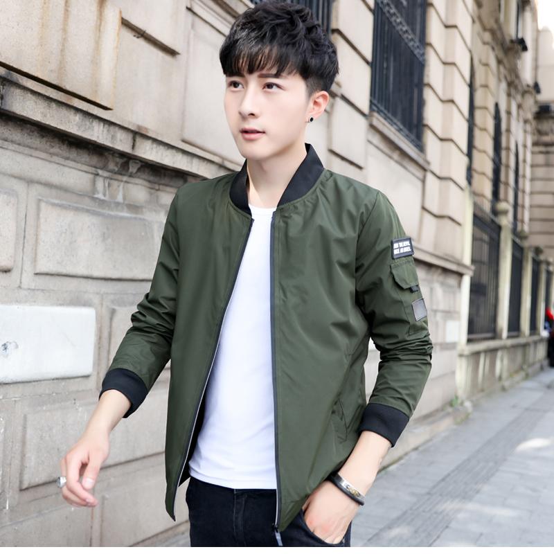 新款春秋装男士外套夹克棒球服青少年韩版潮流休闲褂子修身衣服