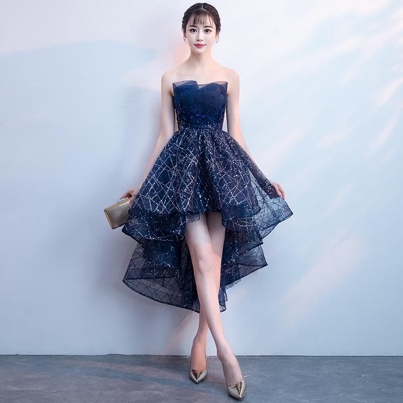 宴会晚礼服女2018新款洋装高贵气质小礼服裙短款秋装高端年会大气