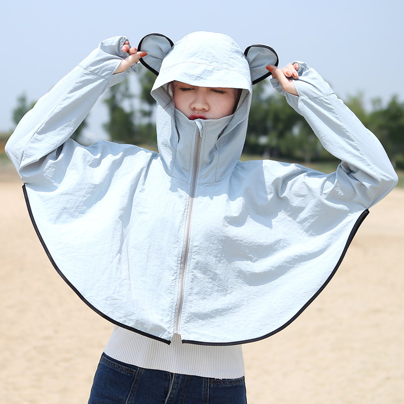 防晒衣女短款2018夏季新款薄款外套防紫外线韩版防晒服户外防晒衫