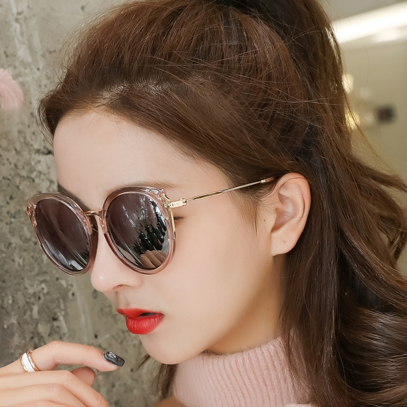 墨镜女潮2018新款韩版复古女士太阳镜女圆脸大框网红防紫外线眼睛