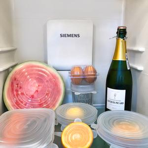 食品级硅胶保鲜盖碗盖密封膜盖子家用多功能万能通用日本保险拉伸