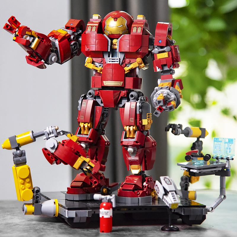 兼容乐高图片侠反浩克机甲装甲乐拼复仇者钢铁拼装机器人玩具联盟贴墙上大全积木积木图片