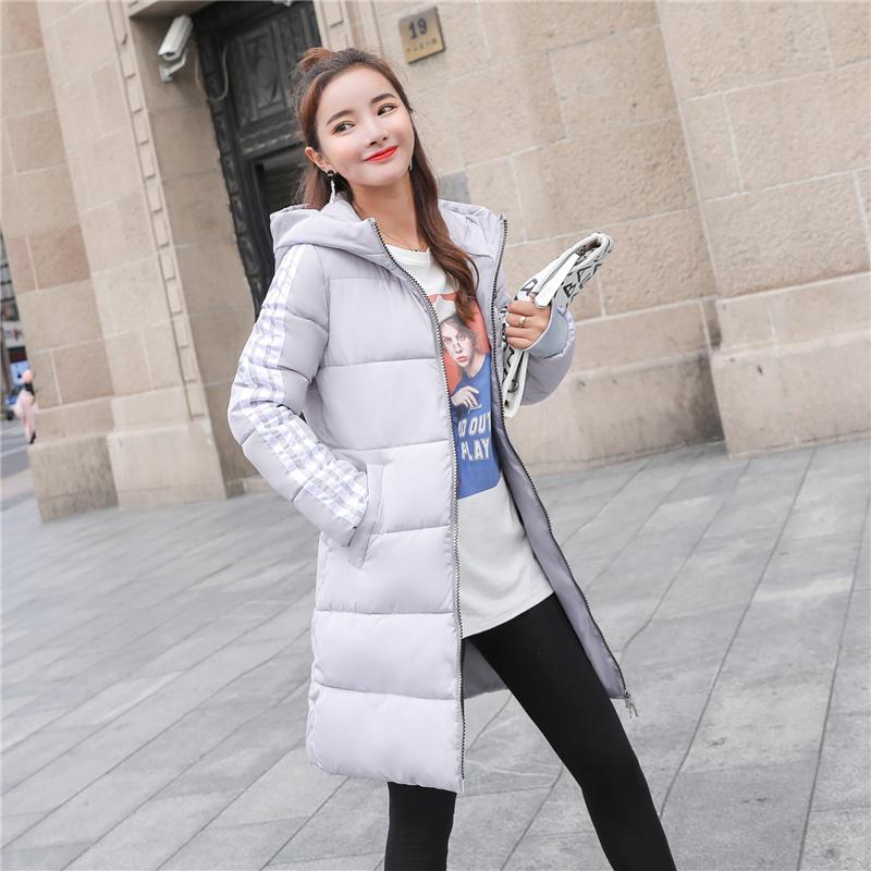 棉袄女2018新款中长款冬季外套加厚修身大码女装时尚百搭羽绒棉服