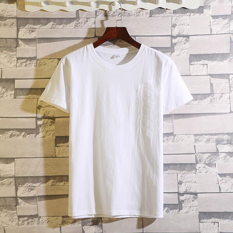 100%纯棉中年短袖男式t恤夏季父亲装体恤中老年薄款大码宽松夏装