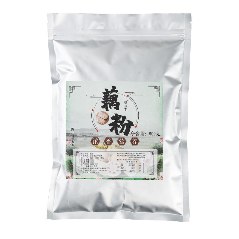 谷益丰 杭州特产桂花莲子味藕粉 500g