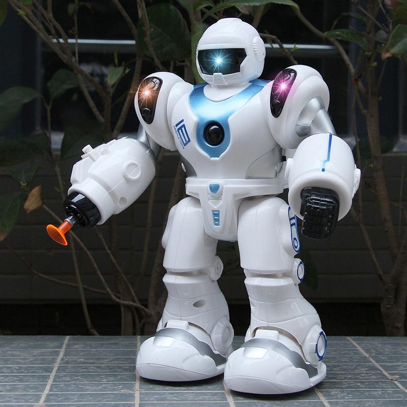 智能机器人阿尔法玩具机械跳舞电动宇宙战警小胖男孩儿童礼物