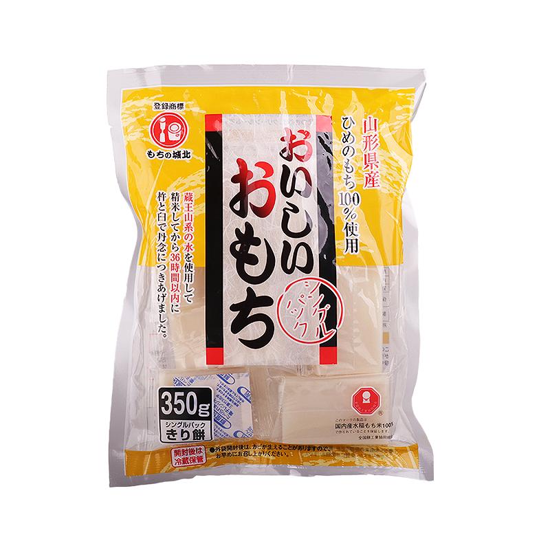 包邮日本进口年糕条片手工城北年糕火锅烧烤日式红豆汤350g拉丝