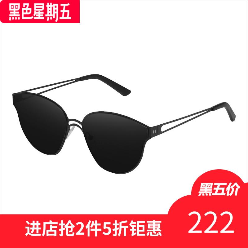 Hawkers女潮网红猫眼复古墨镜女ins2018新款防紫外线太阳眼镜ON01