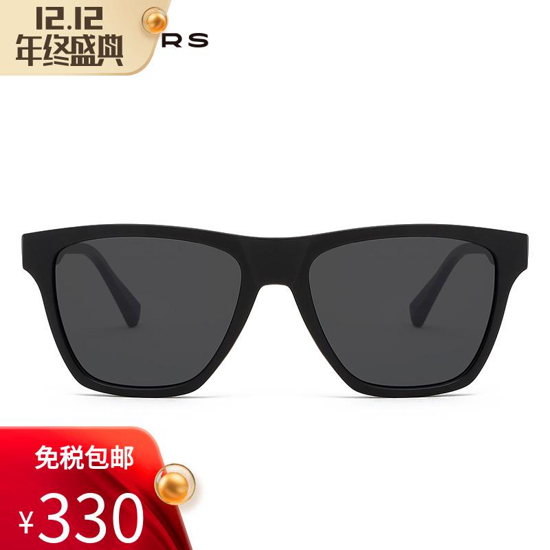 Hawkers男女潮人防紫外线太阳镜哑光框架方形开车酷黑墨镜LIFTR01