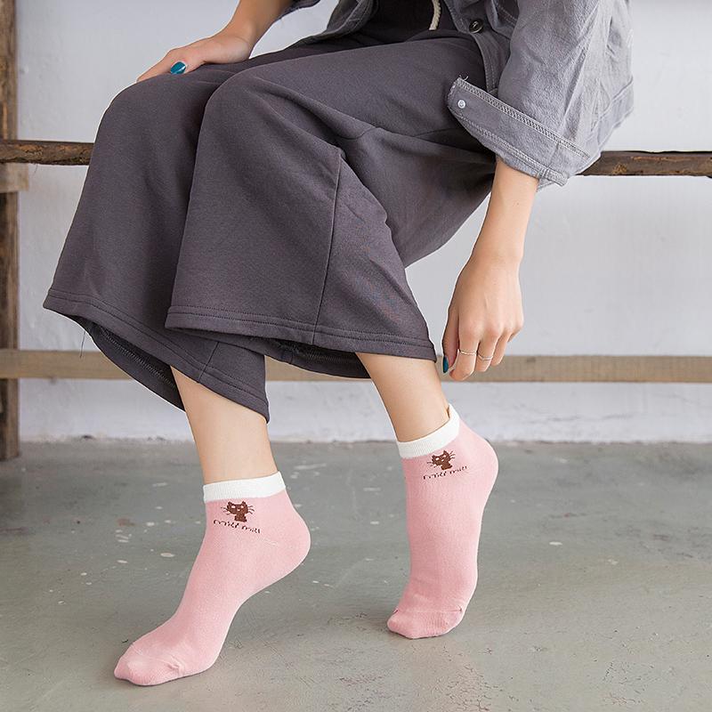 袜子女中筒袜船袜女短袜浅口韩国可爱棉袜低帮船袜防滑隐形学院风