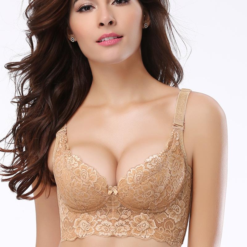 美容院内衣女聚拢调整型文胸收副乳性感上托侧收无海绵薄款无钢圈