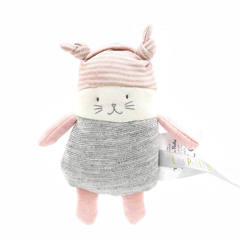 法国moulinroty茉兰若缇小猫摇铃安抚玩偶婴儿可入口毛绒玩具公仔