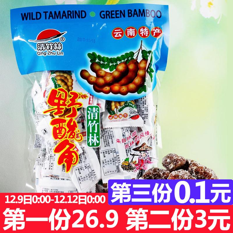 清竹林酸角500g云南特产甜酸角果脯孕妇零食酸角糕大王罗望子果干