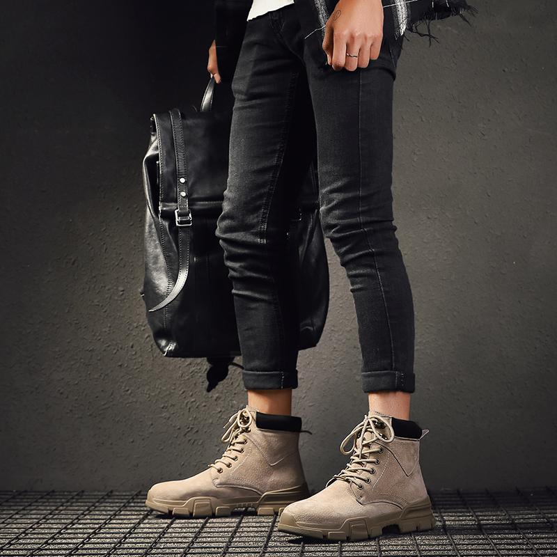 马丁靴男士高帮鞋男鞋子休闲皮鞋百搭板鞋韩版潮流冬季棉鞋男加绒