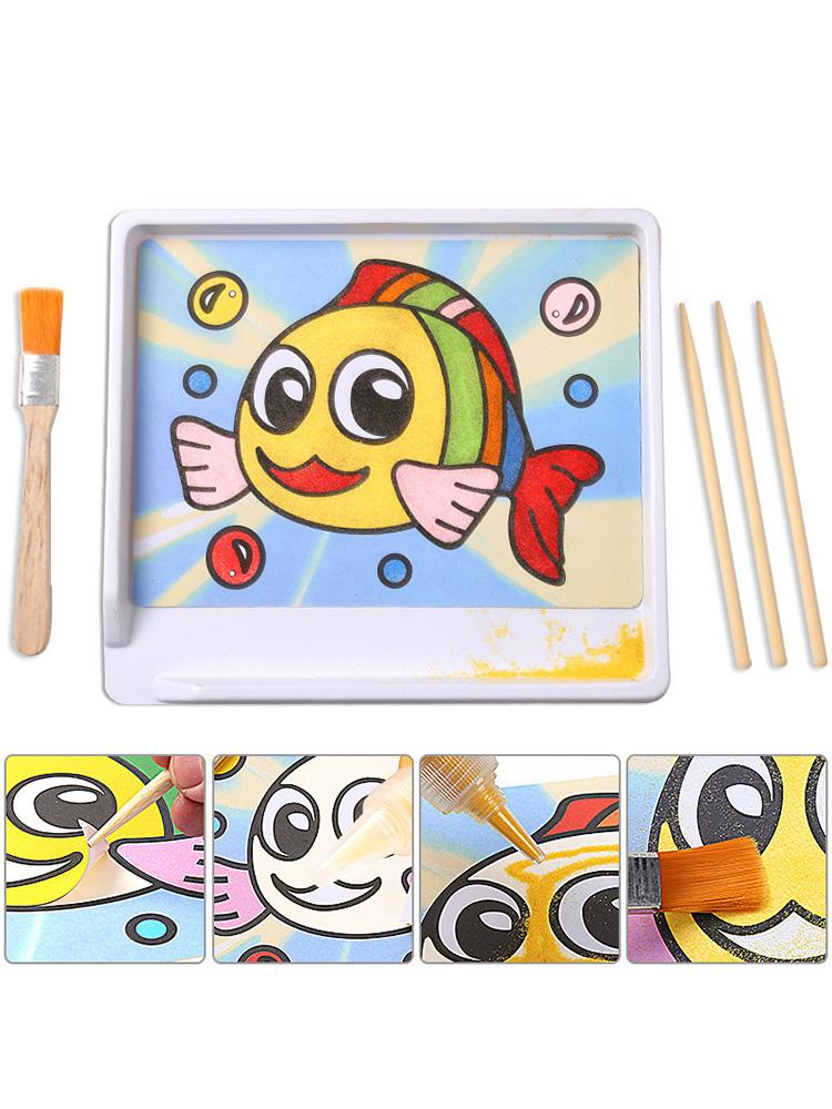 儿童沙画套装 DIY沙画彩沙 男女孩玩具 幼儿园益智手工制作沙画台
