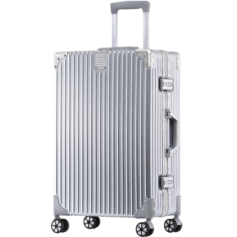 行李箱ins网红铝框拉杆箱万向轮20寸女旅行箱男24密码登机皮箱子
