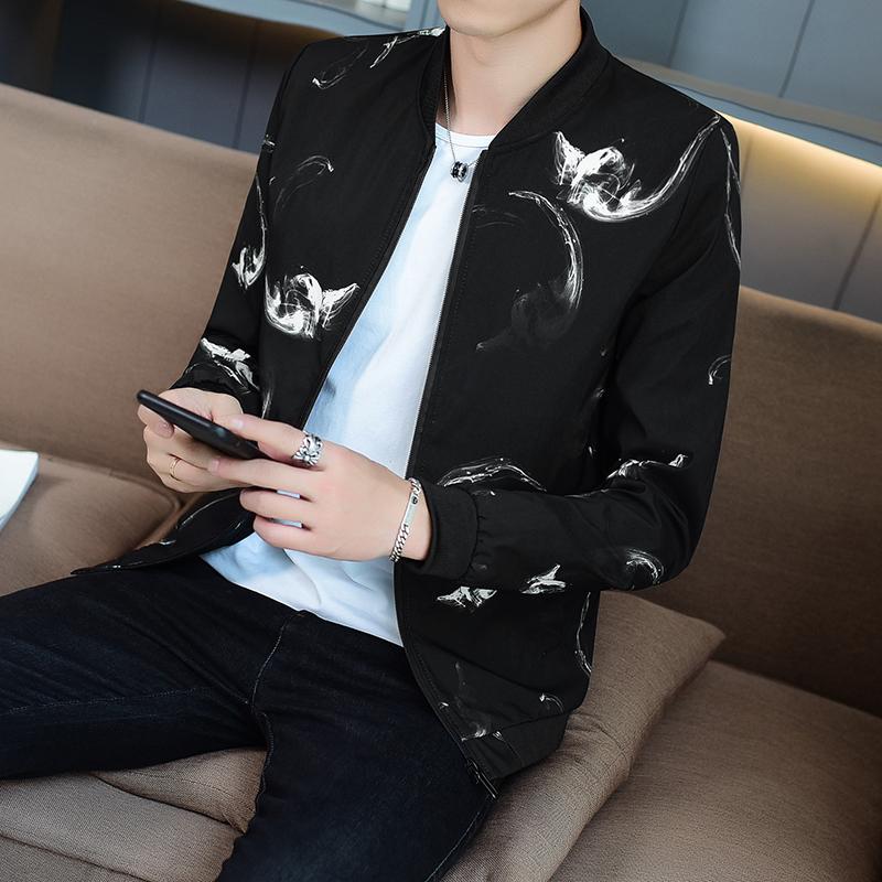 2018秋季新款男士外套青少年韩版修身休闲夹克薄款春秋男装外衣服