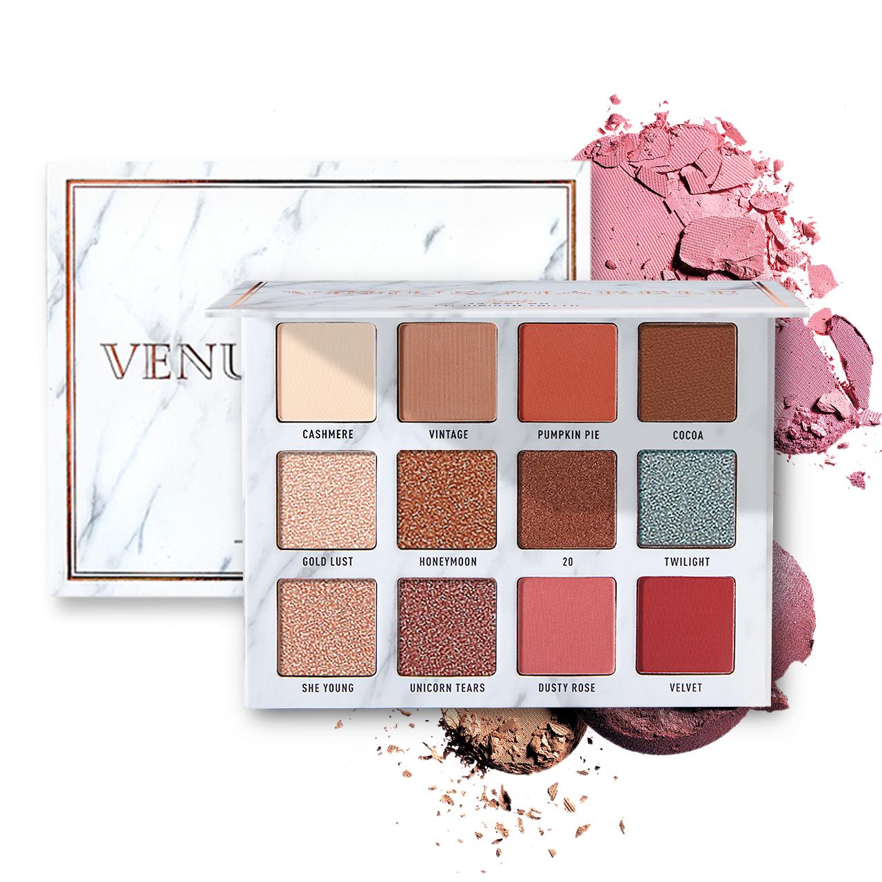 VENUS MARBLE大理石眼影12色官方正品珠光大地色哑光超火彩妆盘