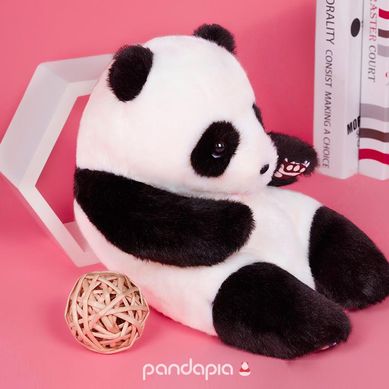 纪念品 长毛版熊猫摊原创生物形态毛绒玩偶 熊猫伴伴 pandapia