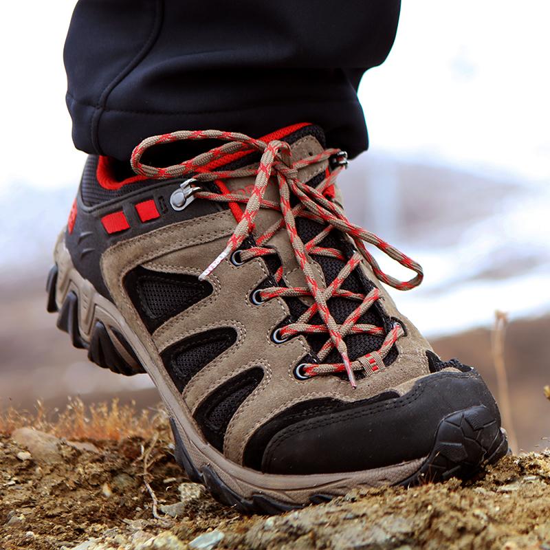 探路者登山鞋 户外徒步鞋男冬防滑透气轻便登山鞋女91364J