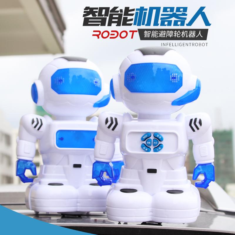 阿尔法可动机器人玩具机械跳舞电动宇宙战警小胖充电男孩儿童H