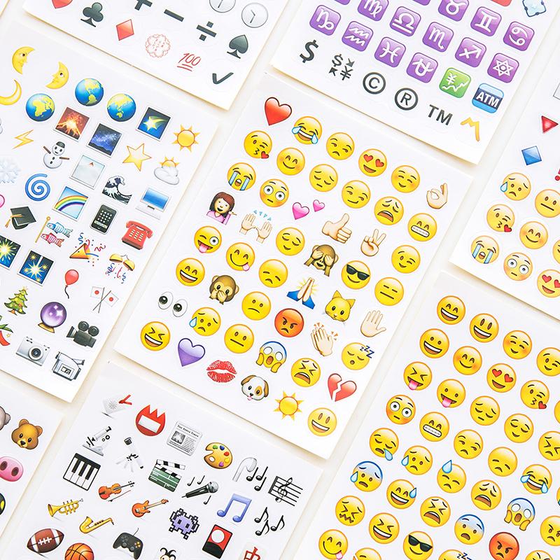 贴纸Emoji微信表情创意手账日记本装饰表情图片v表情心情包图片