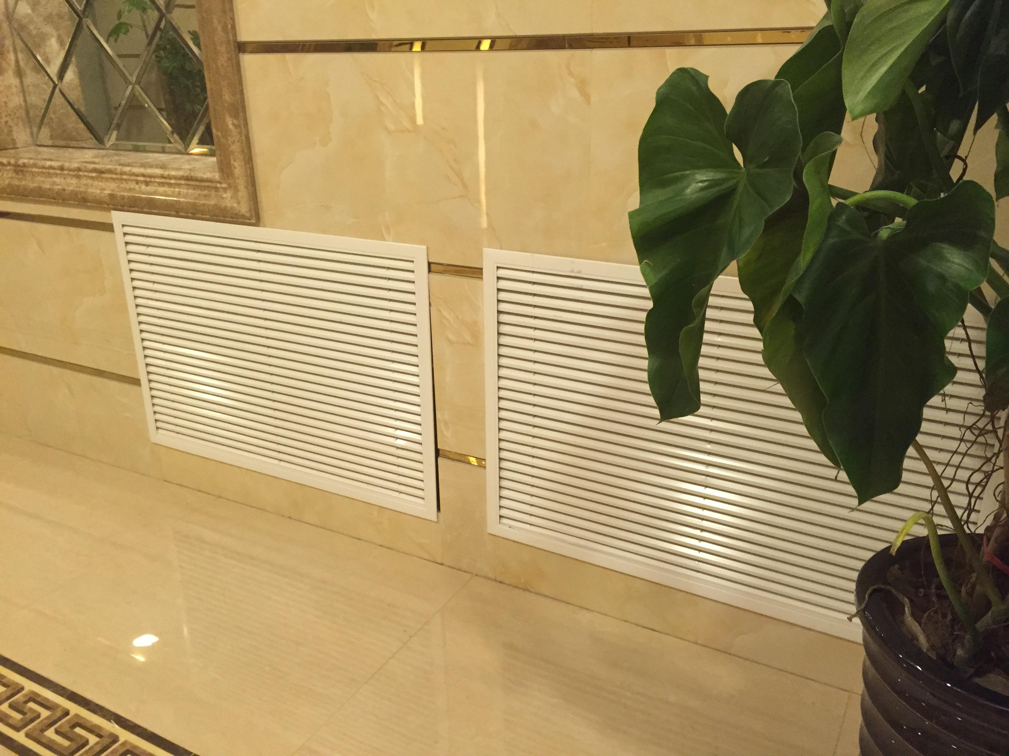 暖氣片裝飾罩家用暖氣罩鋁合金百葉窗出迴風口 加厚地暖分水器罩