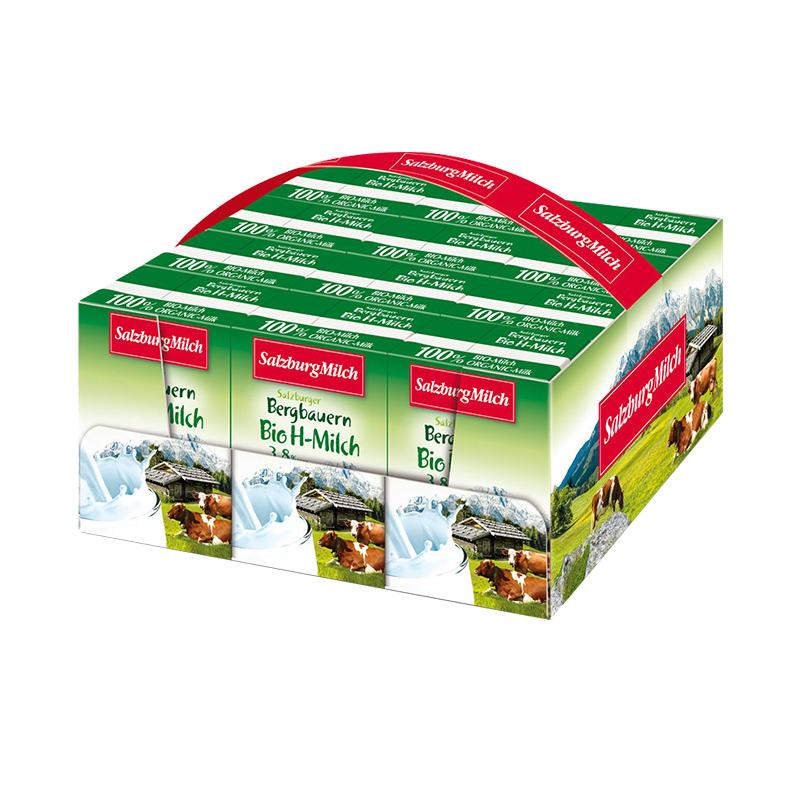 【进口】奥地利 萨尔茨堡全脂有机纯牛奶200ml*12盒 营养早餐
