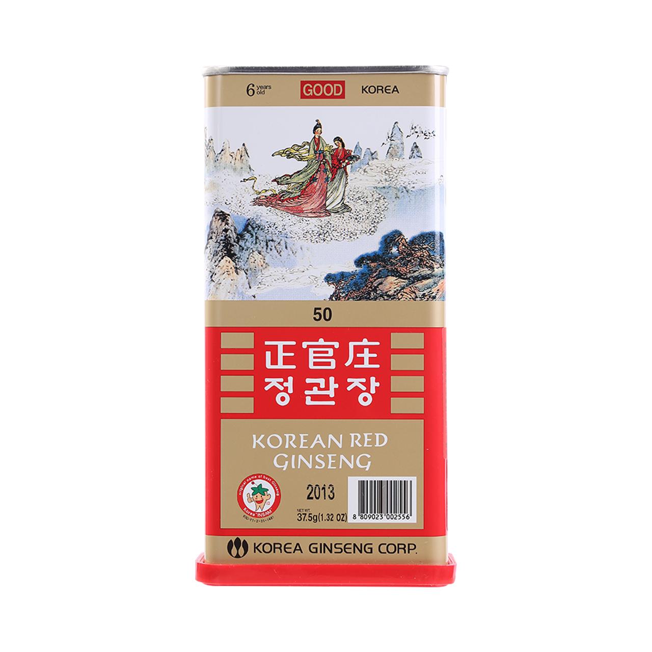 正官庄高丽参韩国红参整支切片37.5g长白山人参泡酒正品