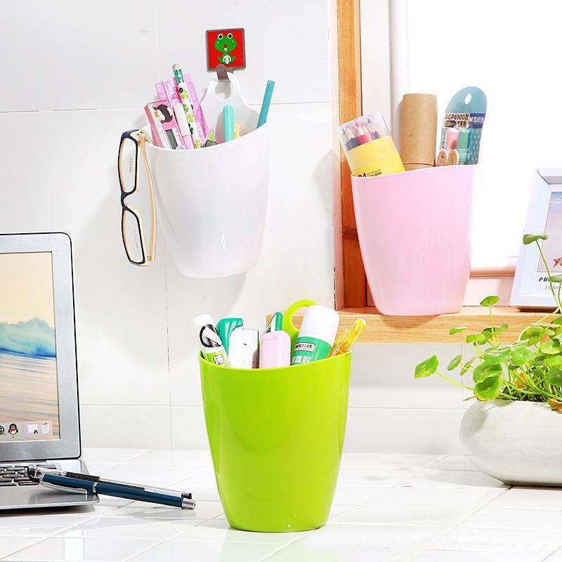 迷你小号/大号可挂式收纳桶壁挂式挂壁垃圾桶卫生桶家用桌上面