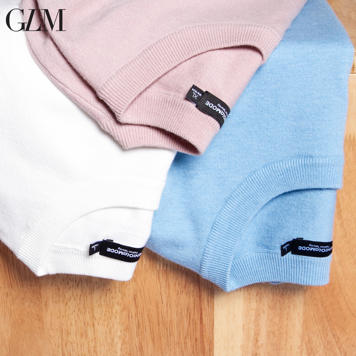 GLM男装2018冬季新款青年弹力罗纹套头衫纯色简约毛衫