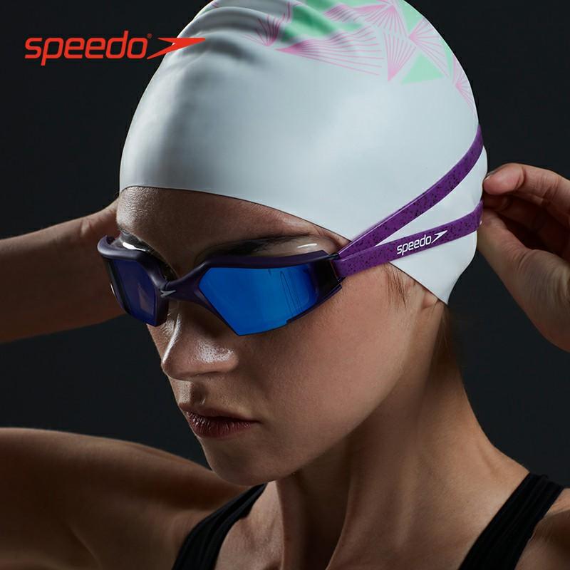 Speedo速比涛专业竞速泳镜男女防水防雾高清大框镀膜游泳眼镜装备