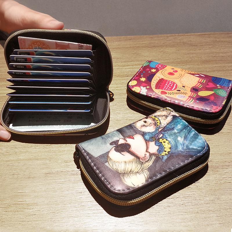 可爱超薄风琴小卡包女式证件位卡袋卡片包卡套大容量零钱包一体包